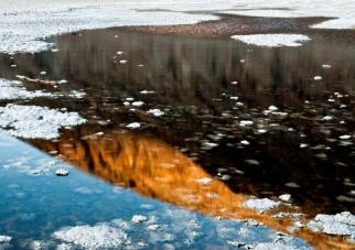 Water 90 meter onder de zeespiegel.